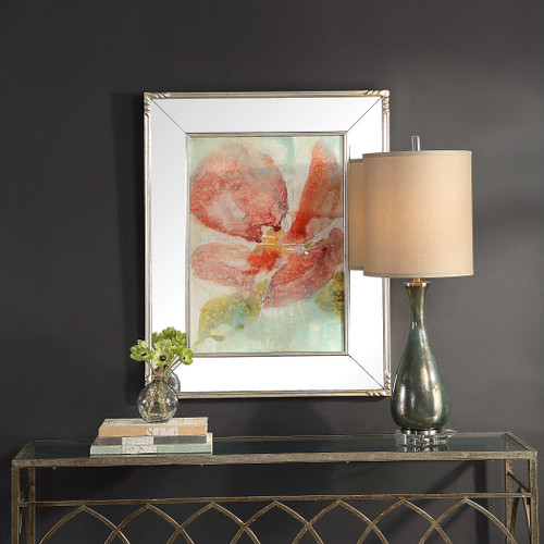Veiled Poppy Framed Print by Uttermost