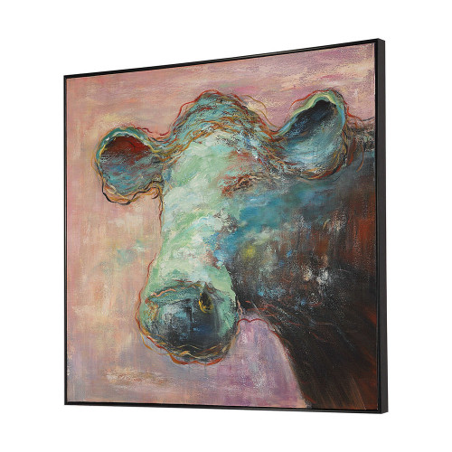 Matty The Cow Hand Painted Canvas