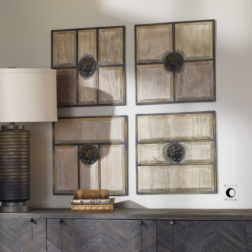 Sahara Squares S/4 by Uttermost