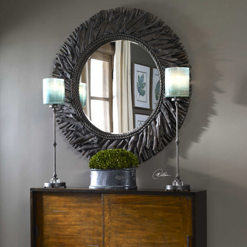 Calabra Round Mirror by Uttermost