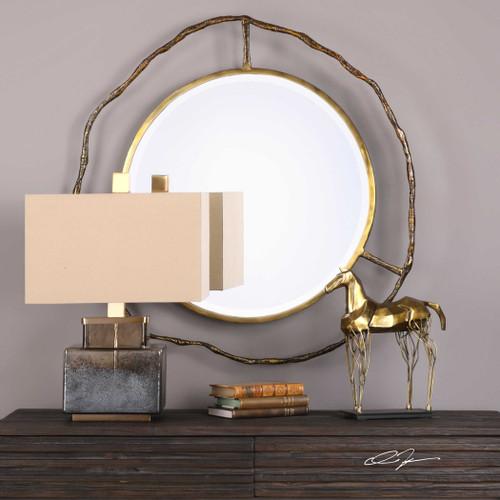 Sithon Round Mirror by Uttermost