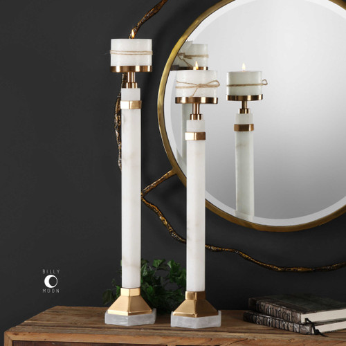 Sanika Candleholders S/2 by Uttermost