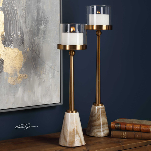 Milania Candleholders S/2 by Uttermost