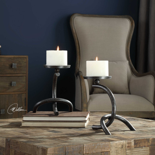 Hasan Candleholders S/2 by Uttermost