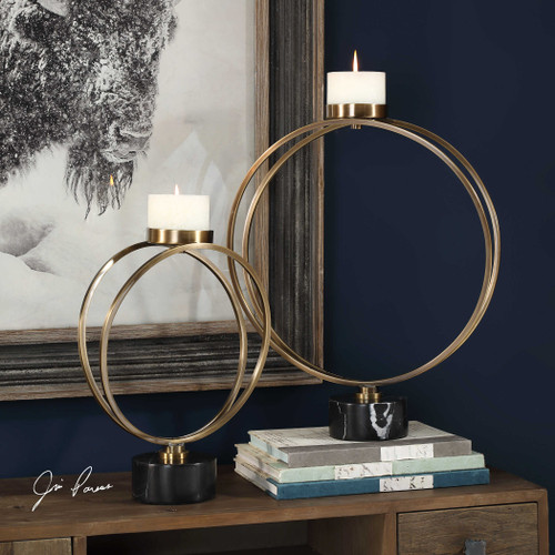Nikola Candleholders S/2 by Uttermost