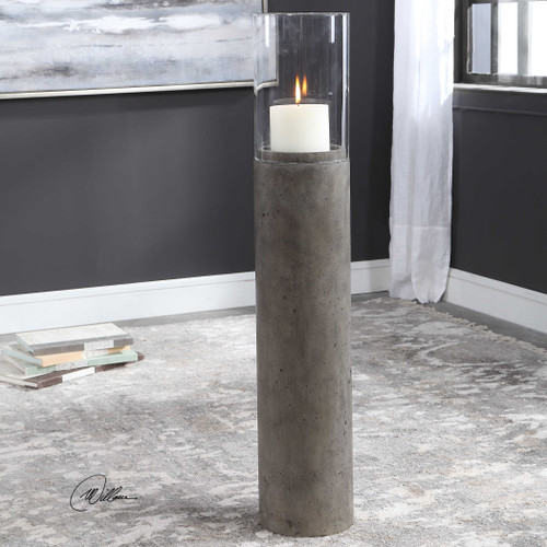 Rakan Tall Hurricane Candleholder - Large by Uttermost