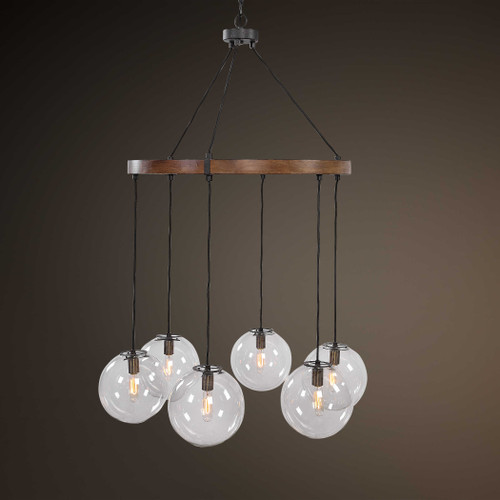 Vaugn 6 Lt Chandelier by Uttermost