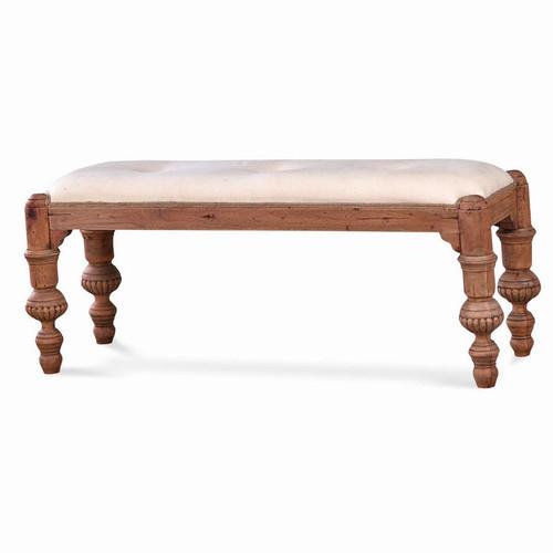 Boudoir Bench - Size: 51H x 124W x 43D (cm)