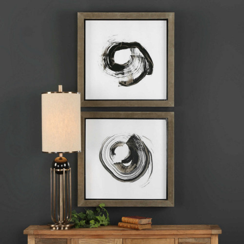 Circulation Study Framed Prints S/2 by Uttermost