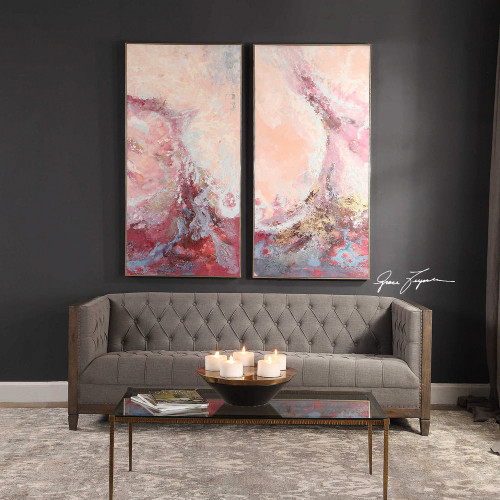 Berry Splash Hand Painted Canvases S/2 by Uttermost