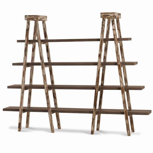 Taylor Double Ladder Shelf - Size: 180H x 231W x 41D (cm)