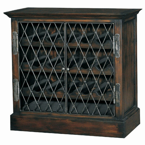 Sanoma Wine Chest - Size: 85H x 89W x 48D (cm)