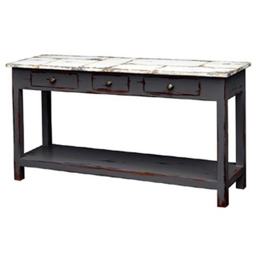 Tinsmith Sofa Table - Size: 80H x 150W x 44D (cm)