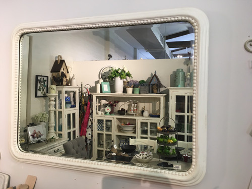 Homestead Mirror - White Light Distressed
