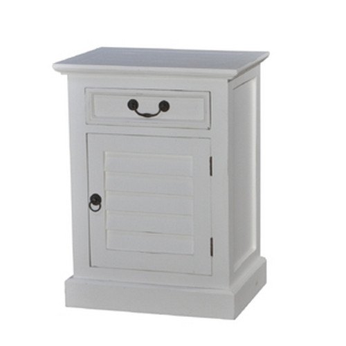 Shutter Bedside Cabinet Small - Size: 68H x 51W x 38D (cm)