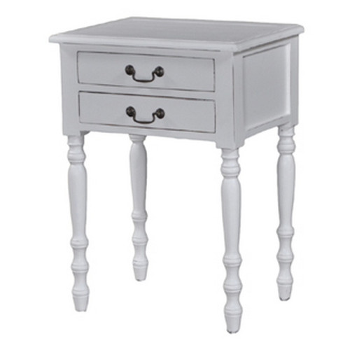 Tucker 2 Drawer Side Table - Size: 71H x 52W x 38D (cm)