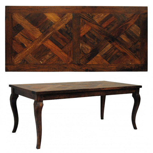 Savannah French Provincial Parquetry Dining Table 180cm