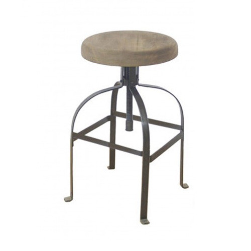 Industrial Screw Barstool - Closed