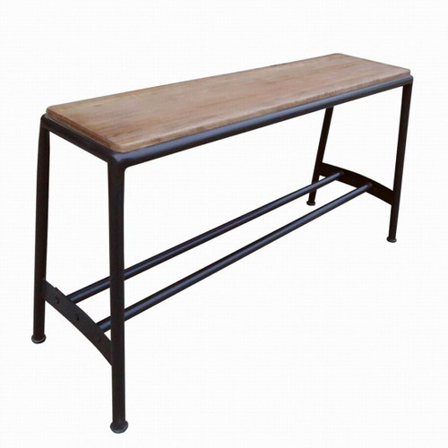 Industrial Breakfast Bench - Rusty