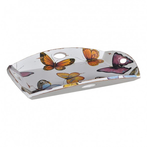 Homestead 4 Handle Serving Tray - Size: 9H x 76W x 56D (cm)
