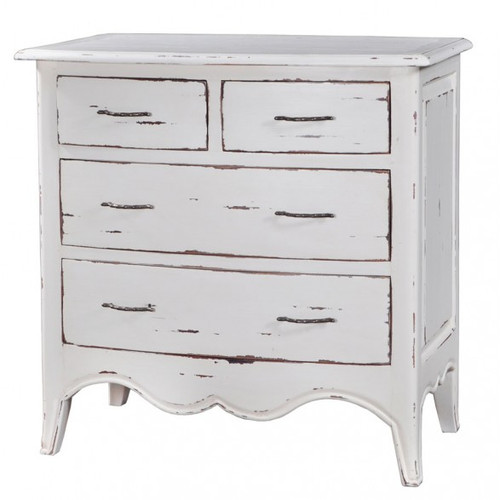 Carlyle 4 Drawer Bow Front Chest - Size: 85H x 84W x 48D (cm)
