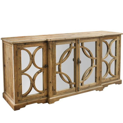 Deco Sideboard - Reclaimed Pine - Size: 91H x 200W x 51D (cm)