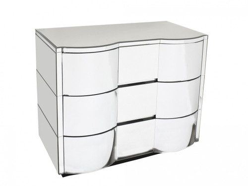 Bloomingdale Mirrored Chest - Size: 88H x 110W x 57D (cm)