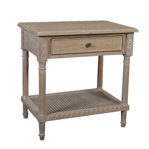 Polo Side Table Oak Wash - Size: 60H x 60W x 40D (cm)