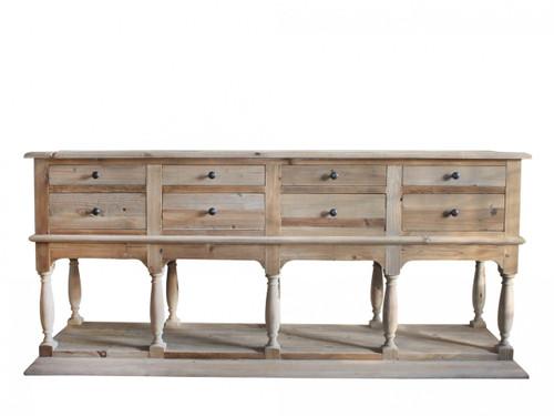 Castillon Sideboard Natural - Size: 85H x 200W x 50D (cm)
