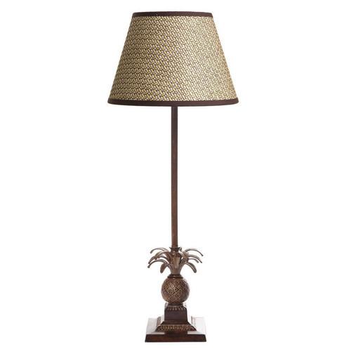 Caribbean Pineapple Table Lamp - Brown