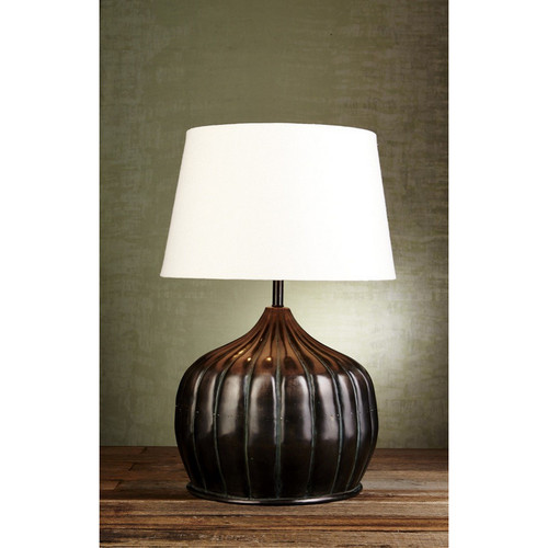 Pumpkin Table Lamp - Florentine Bronze
