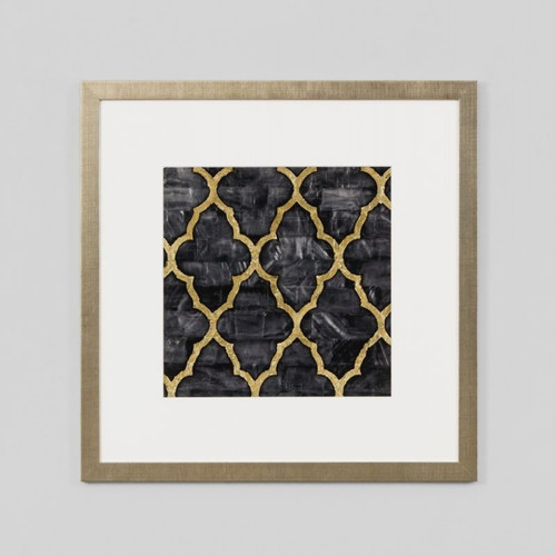 Framed Print: Mother Of Pearl Ebony