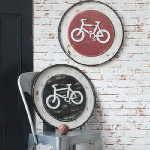 """Velo Metal Wall Plaque 19.5"""" (Set of 2) Gallery Direct"""