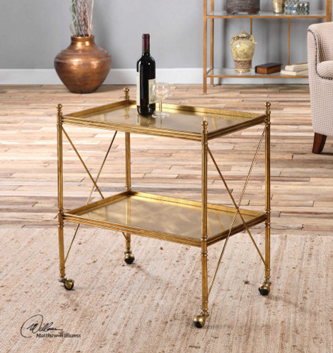Amaranto Serving Cart by Uttermost