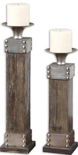 Lican Candleholders S/2 by Uttermost