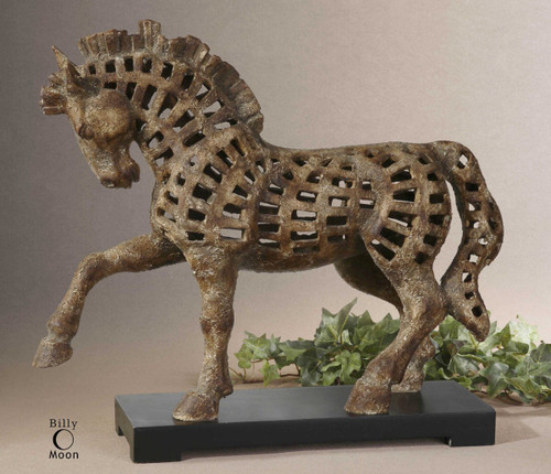 Prancing Horse Sculpture by Uttermost