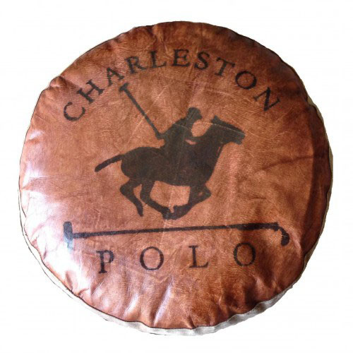 Charleston Polo Vintage Round Floor Pillow