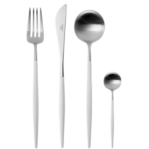 Cutipol Goa 24 Piece Cutlery Set - Stainless Steel White Handle