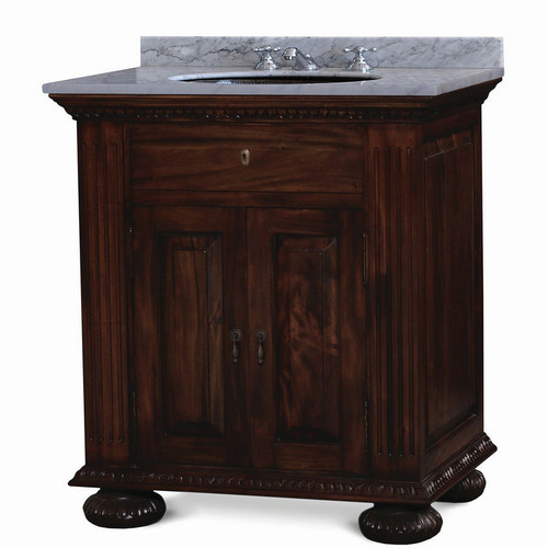 Charleston  Single Vanity - Size: 94H x 84W x 61D (cm)