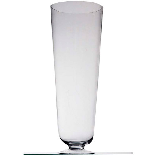 Tall Vase Clear Footed 80cm