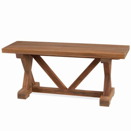 Hamptons X-Base Tall Bench Seat - Size: 56H x 130W x 41D (cm)