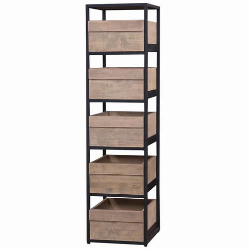 Urban Storage Shelves - Size: 157H x 41W x 46D (cm)