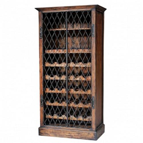 Sanoma Wine Cabinet w/Iron Door (175H x 88W x 48D)