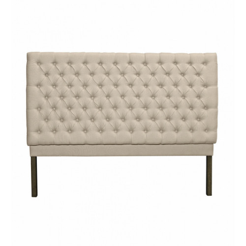 Consort Tufted King Bedhead - Natural Linen