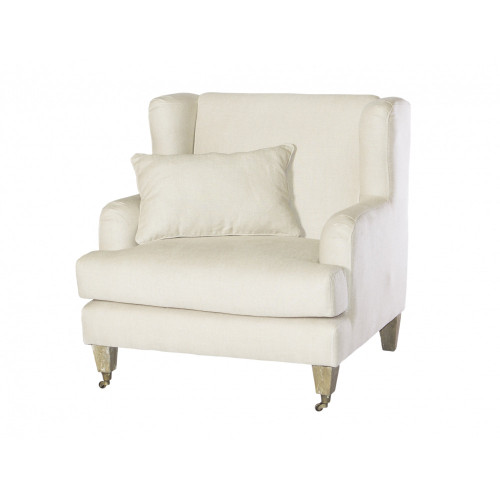 Lyon Wing Armchair - Natural Linen