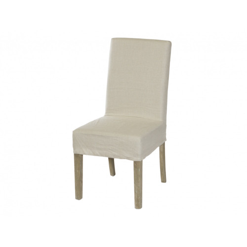 Dining Chair Cover Short - Natural Linen