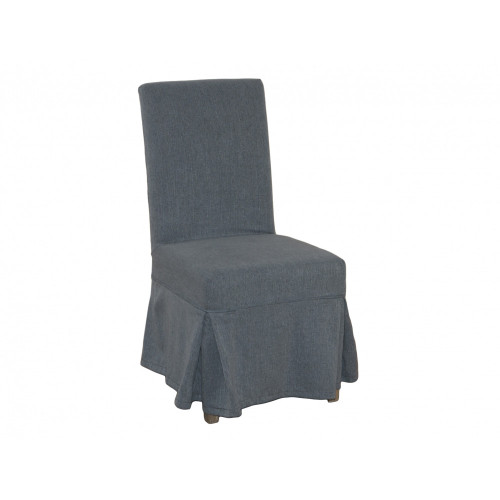 Dining Chair Cover Loose - Steel Blue