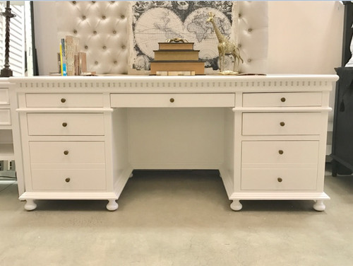 Westminster Desk - White on display