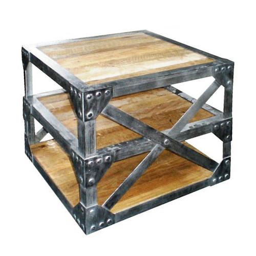 Detroit Cross-Brace Side Table