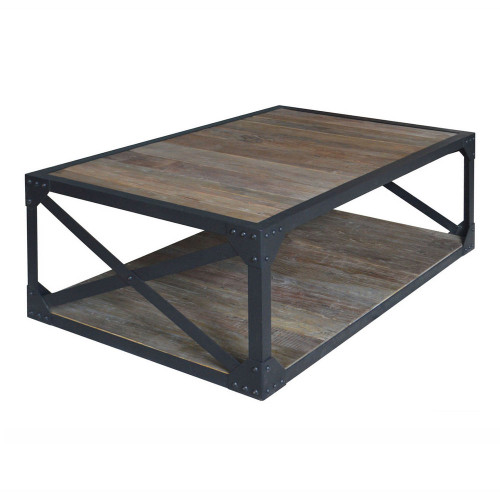 Detroit Cross-Brace Coffee Table